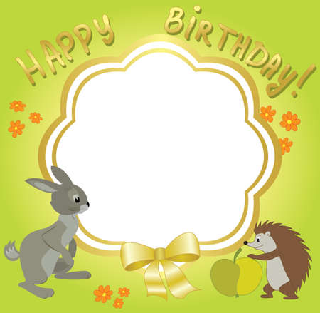 vector frame for congratulations - with animals Vector