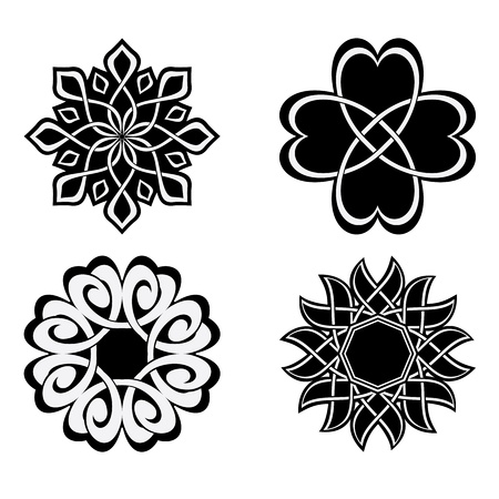 geometric design: set - vector geometric elements for design Illustration