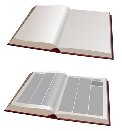 문학의: vector  illustration - two big books open