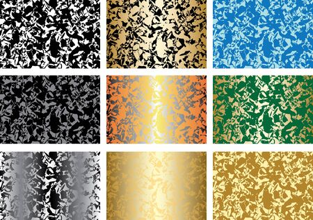 set of patterns with abstract textures Stock Vector - 9931124