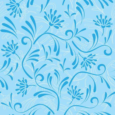 blue seamless pattern 9 Vector