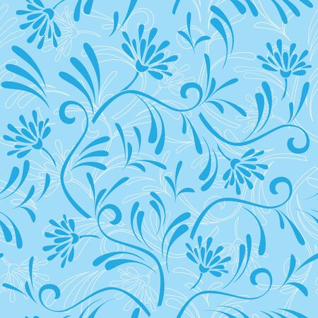 blue seamless pattern 9 Vector