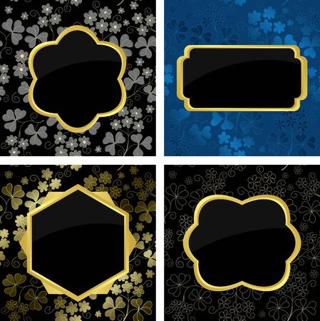 set of card  with geometric frames Stock Vector - 9931126