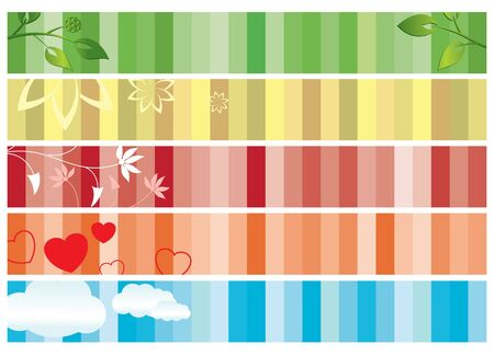 set of color banners with nature Stock Vector - 9968879