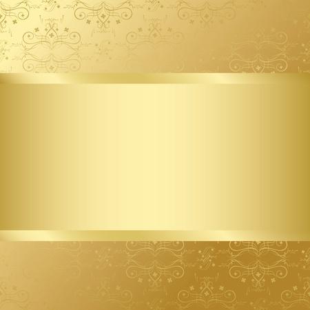 carte d'or avec la texture or et le centre Vecteurs