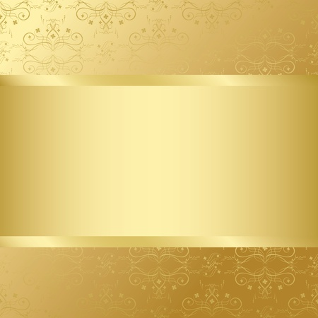 golden card with golden texture and center Vector