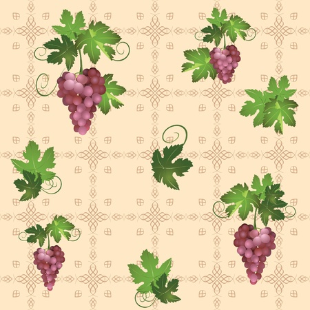 raceme: seamless pattern with grape - eps