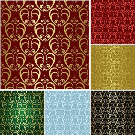 eps - beautiful seamless patterns - set Vector