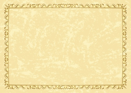 light beige vintage frame - vector Vector