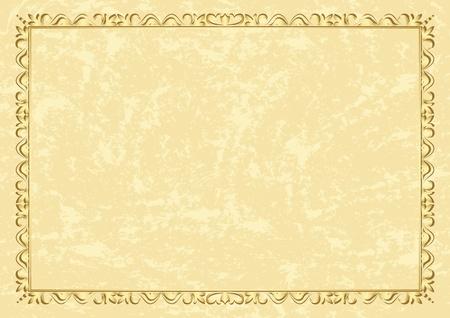 light beige vintage frame - vector