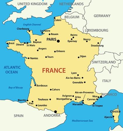 francia: Mapa de Francia  Vectores