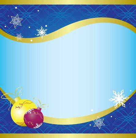 kerstkaart met blauwe patroon.
