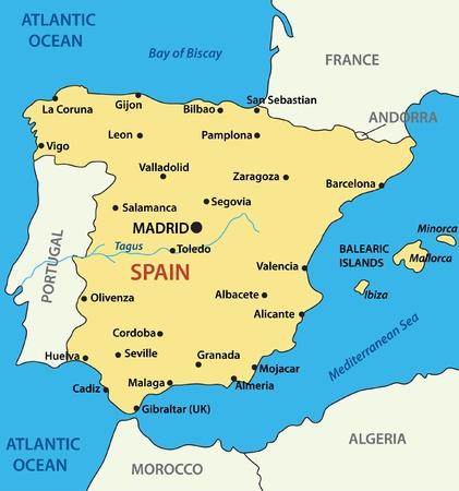 Karte von Spanien - Vektor-Illustration