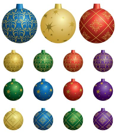 colorful vector decorative balls for christmas Stock Vector - 10767105