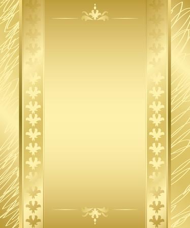 vector golden frame with golden decorations Vector