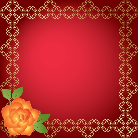 red card with golden borders Vector