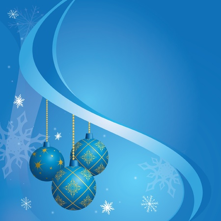 vector blue card for christmas holidays - eps 10 Vector