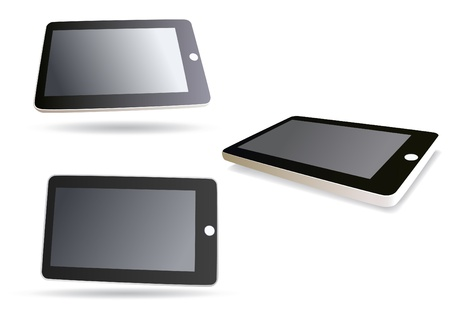 communicative: image isolated tablet computer - set