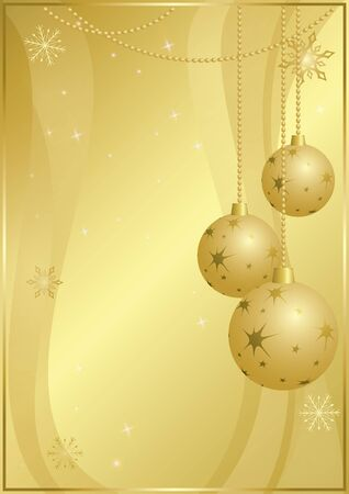 vector gold card for christmas holidays - eps 10 Vector