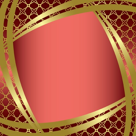 vector golden frame with center gradient Vector