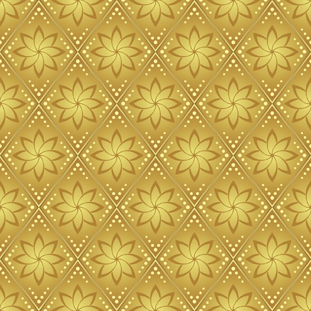 gold vector seamless pattern for background Vector