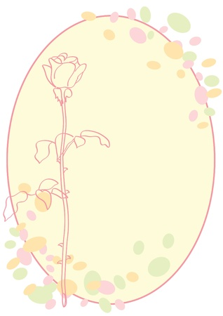 rosy: vector greeting card with rose