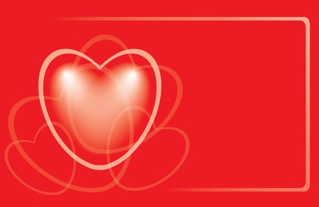 incarnadine: vector red romantic card with heart