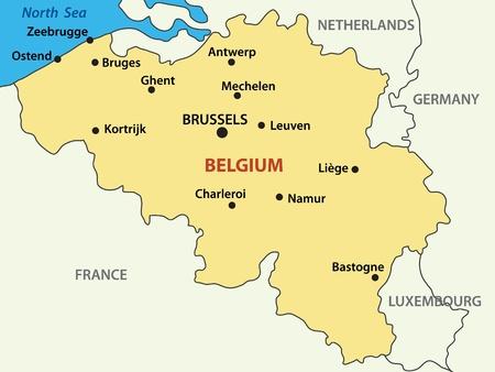 belgium: map - Kingdom of Belgium