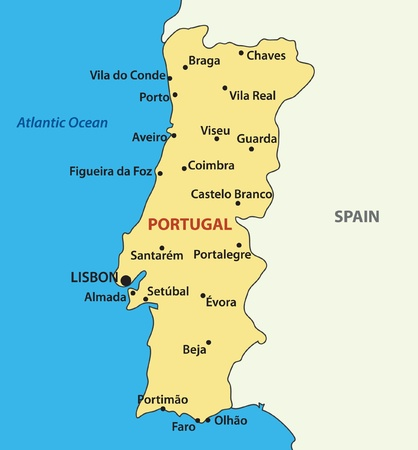 iberian: vector map of the Portugal