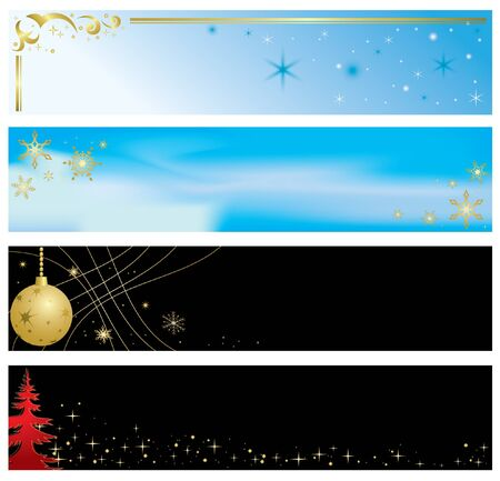 vector - set of christmas color banners Vector