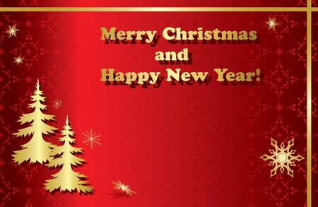 happy new year banner: red vector christmas frames with pattern