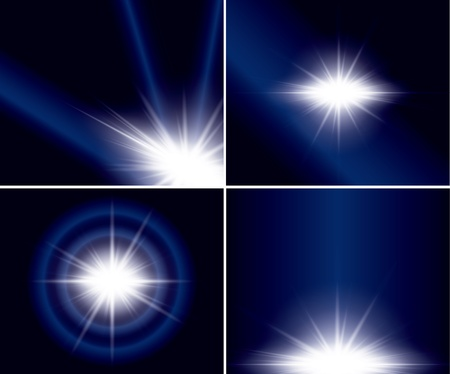 abstract backgrounds with flash for design - vector set Vector