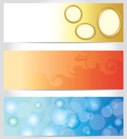 set - vector abstract color horizontal backgrounds Vector