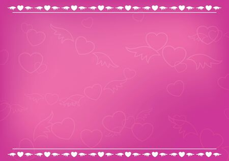 vector pink romantic card with hearts Vector