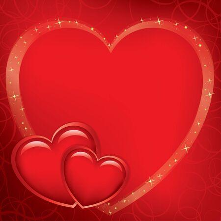 červená romantické karta pro den svatého Valentýna - vektor