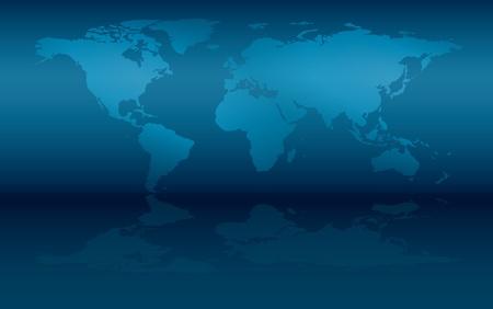 壁と反射 - eps 10 世界の地図  イラスト・ベクター素材