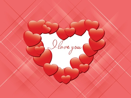 incarnadine: vector red romantic card - I love you Illustration