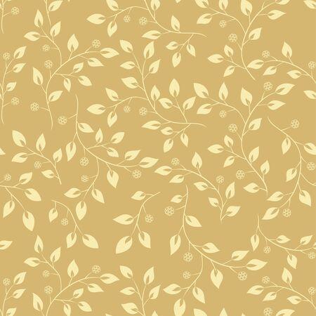 floral pattern beige  - seamless vector Vector