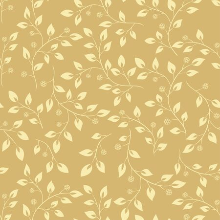 floral pattern beige  - seamless vector Vector