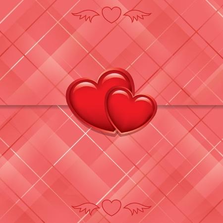 vettoriale cartellino rosso sigillato con il cuore