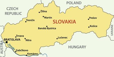 slovak: vector map - Slovak Republic