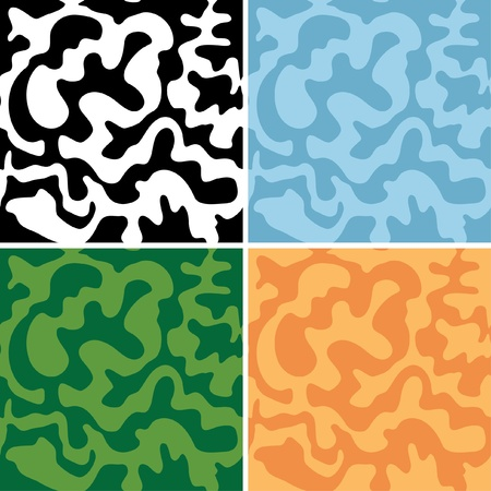 set of abstract seamless patterns - eps Vector