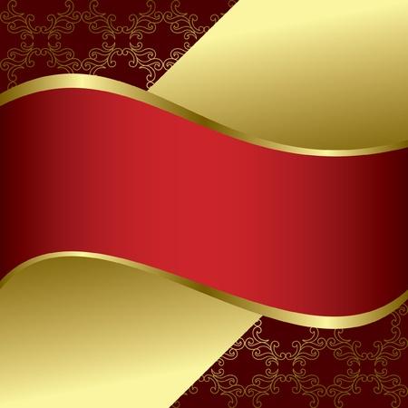 赤と金の明るい背景 - ベクトル  イラスト・ベクター素材