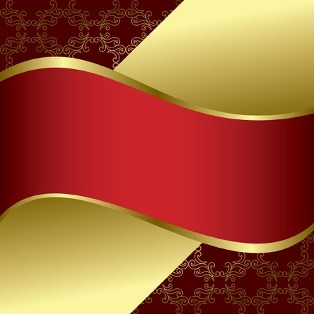 red and gold bright background - vector
