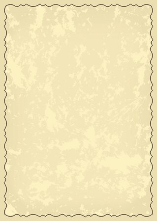 old grungy card with decorative frame  - vector Vector