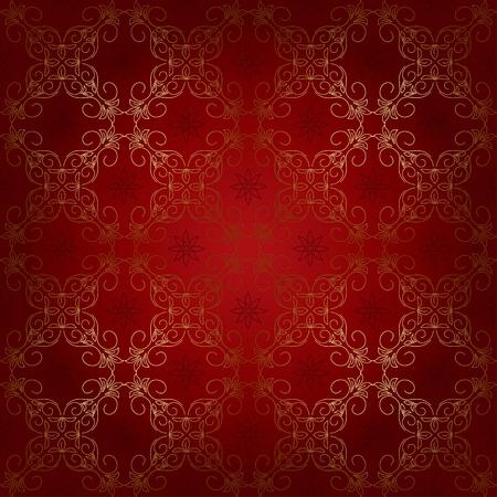 de color rojo sin patrón hermosa con elementos de oro.