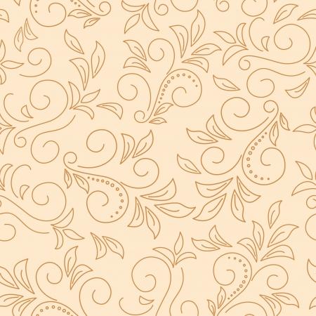 floral tracery: light beige floral seamless pattern. Illustration