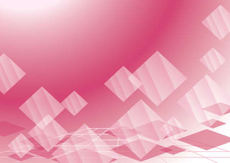 abstract pink background with transparent rhombuses Stock Vector - 12268779