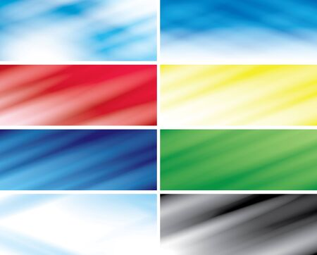 set -  abstract color headers with blurred lines