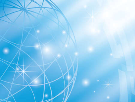 abstract vector background with blue globe  Vector